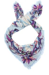 Платок из смеси вискозы и кашемира с принтом Emilio Pucci