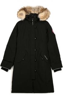Куртка с меховой отделкой капюшона Canada Goose