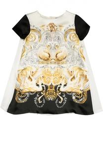 Шелковое платье А-силуэта Roberto Cavalli