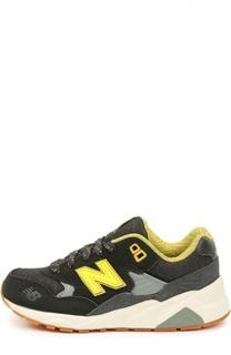 Замшевые кроссовки 580 с сетчатой вставкой New Balance