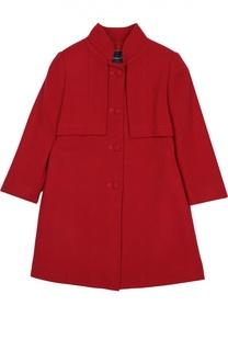 Шерстяное пальто с воротником-стойкой Oscar de la Renta