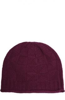 Вязаная шапка из смеси шерсти и кашемира Johnstons Of Elgin