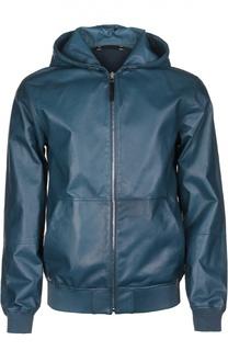 Куртка-бомбер кожаная Ermenegildo Zegna