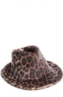 Шляпа с леопардовым принтом Stella McCartney