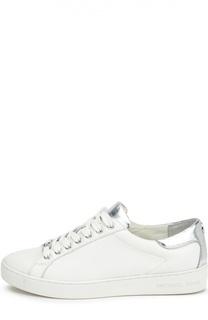 Кожаные кеды на шнуровке Michael Michael Kors