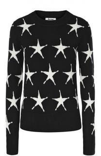 Пуловер с круглым вырезом и принтом в виде звезд Acne Studios