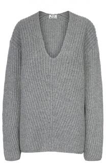 Пуловер фактурной вязки с V-образным вырезом Acne Studios
