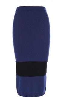 Облегающая вязаная юбка с контрастной полоской Escada Sport