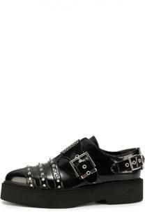 Кожаные ботинки с заклепками Alexander McQueen