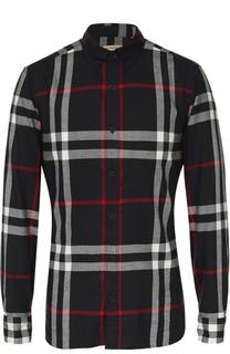 Хлопковая рубашка с воротником button-down Burberry Brit