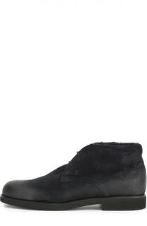 Замшевые ботинки с внутренней отделкой из овчины Tod's