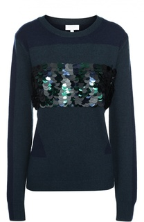 Пуловер свободного кроя с пайетками Escada Sport