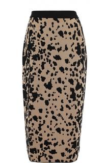 Юбка-карандаш с леопардовым принтом Escada