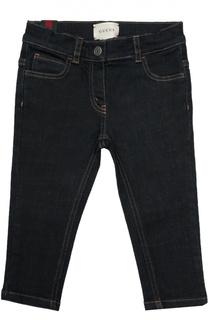 Классические джинсы с нашивкой Gucci