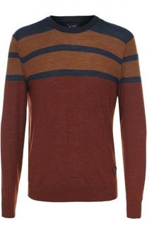 Джемпер из смеси шерсти и шелка Armani Jeans