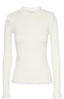Приталенный пуловер с круглым вырезом и бахромой Michael Michael Kors