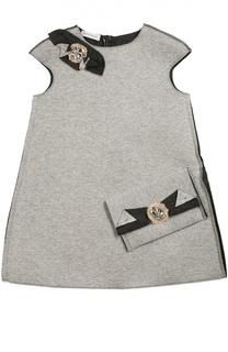 Платье без рукавов с декоративной отделкой I Pinco Pallino