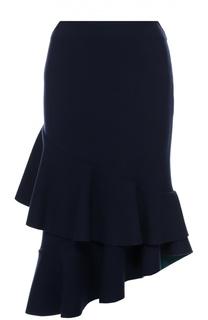 Облегающая юбка асимметричного кроя Escada Sport