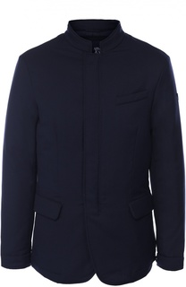 Утепленная шерстяная куртка с потайной застежкой Armani Jeans