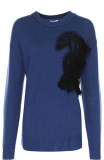 Пуловер свободного кроя с декоративной отделкой Escada Sport