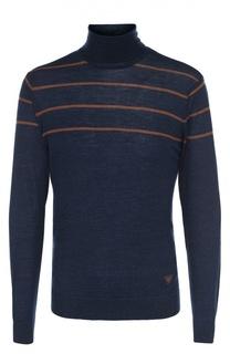 Водолазка из смеси шерсти и шелка Armani Jeans