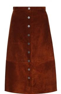 Замшевая юбка-миди на заклепках Diane Von Furstenberg