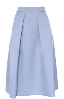 Расклешенная юбка со складками и широким поясом Escada