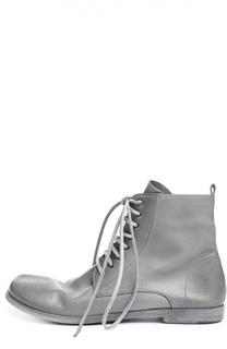 Кожаные ботинки на шнуровке Marsell