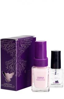 Лак для ногтей Diana / Розовый Френч + Bond-подготовка Christina Fitzgerald