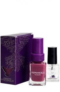 Лак для ногтей Fernandez / Cочный ревень + Bond-подготовка Christina Fitzgerald