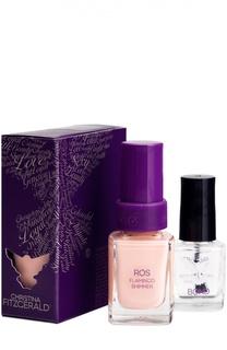 Лак для ногтей Ros / Трепетный фламинго + Bond-подготовка Christina Fitzgerald