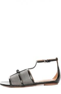 Кожаные сандалии с перфорацией Alaia