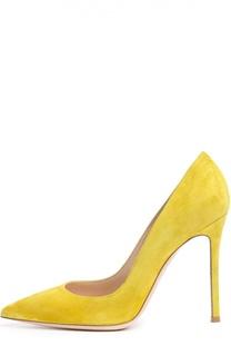 Замшевые туфли Gianvito 105 на шпильке Gianvito Rossi