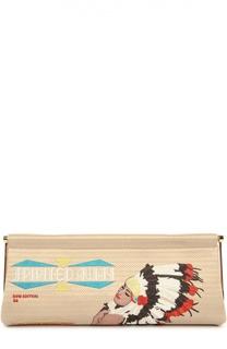 Клатч Spirited Away Magazine с вышивкой Charlotte Olympia