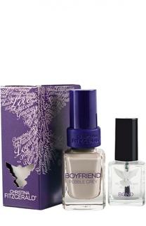 Лак для ногтей Boyfriend / Серая галька + Bond-подготовка Christina Fitzgerald