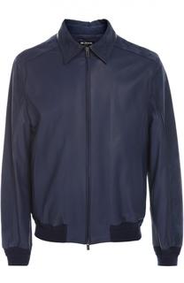 Кожаная куртка Kiton