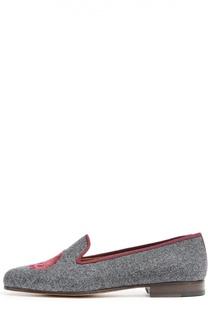 Текстильные лоферы с нашивкой Stubbs&Wootton Stubbs&Wootton