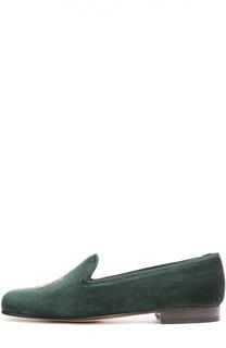 Бархатные лоферы с нашивкой Stubbs&Wootton Stubbs&Wootton