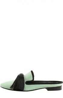 Шелковые домашние туфли Maestro с кисточками Aleksandersiradekian