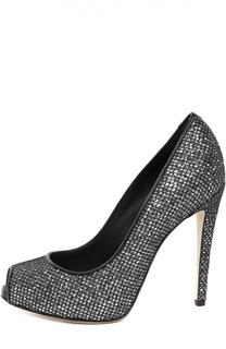 Туфли из металлизированной ткани Giuseppe Zanotti Design