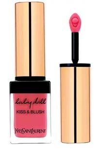 Блеск для губ и румяна Baby Doll Kiss & Blush 07 Corail Affranchi YSL