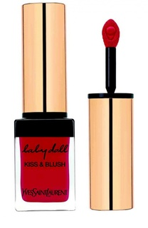 Блеск для губ и румяна Baby Doll Kiss & Blush 06 Rouge Libertine YSL