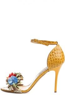 Кожаные босоножки с декором Stella Jean