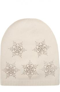 Кашемировая шапка с узором в виде снежинок Colombo