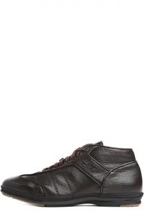Кожаные кеды на шнуровке Alexander Hotto