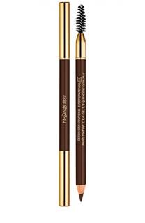Карандаш для бровей №2 Dark Brown YSL