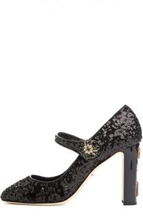 Туфли Jackie с мелкими пайетками Dolce & Gabbana