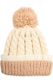 Шерстяная шапка крупной вязки 7II