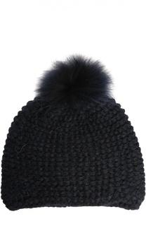 Вязаная шапка с помпоном Inverni