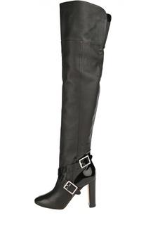 Кожаные сапоги Doma на устойчивом каблуке Jimmy Choo
